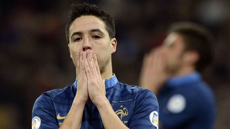 Samir Nasri: Will not be gracing the World Cup stage this summer