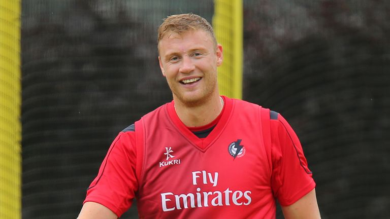 Andre Flintoff: Is set to play for Lancashire in the NatWest T20 Blast this season