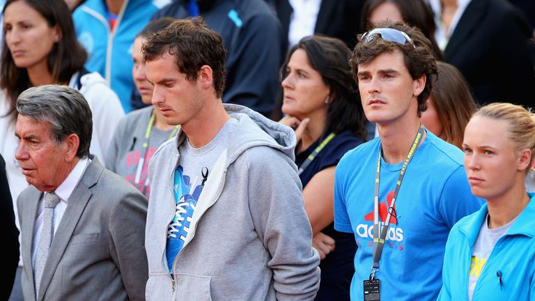 Andy Murray joins players and officials in paying tribute to Elena Baltacha
