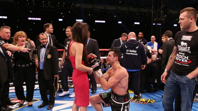 Froch did propose in the ring afterwards