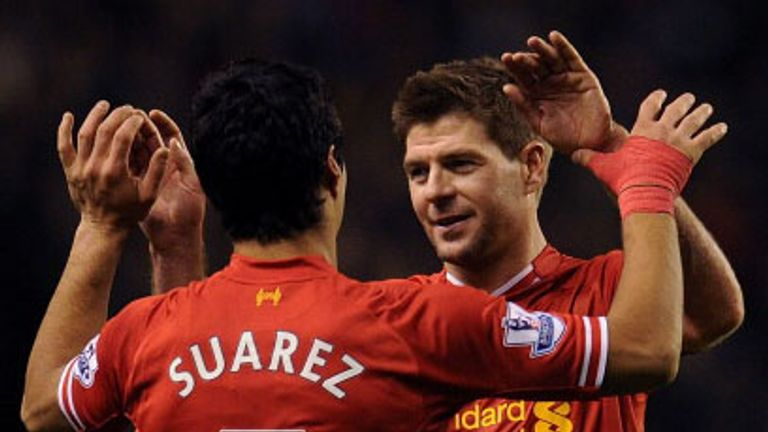 Steven Gerrard: Liverpool captain hailed Luis Suarez after three more awards