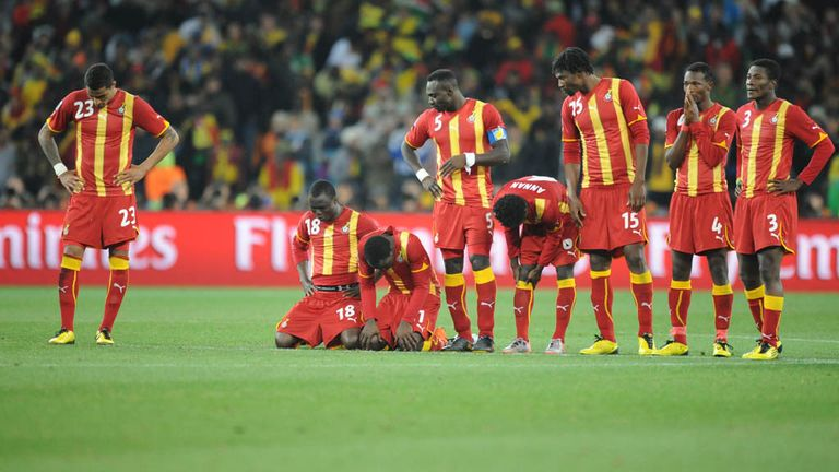 Ghana were left heartbroken after being beaten on penalties by USA in 2010