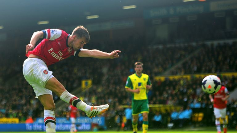 Ramsey's goal against Norwich came a week before his winner in the FA Cup final for Arsenal against Hull