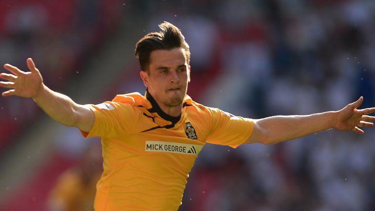Ryan Donaldson: Celebrates crucial goal for Cambridge United