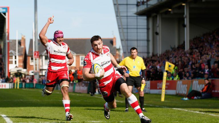 Shane Monahan scores the winning try for Gloucester
