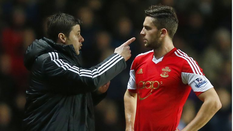 Mauricio Pochettino with Jay Rodriguez: Southampton man unsure over manager's future