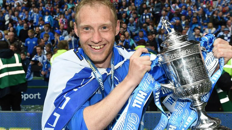 Steven Anderson: Saints goalscoring hero celebrates with Scottish Cup