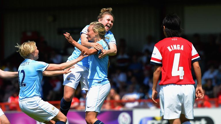 Toni Duggan: On target again for Manchester City