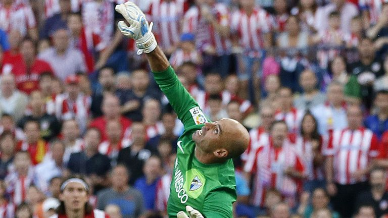 Willy Caballero: Malaga keeper honoured by Barcelona link