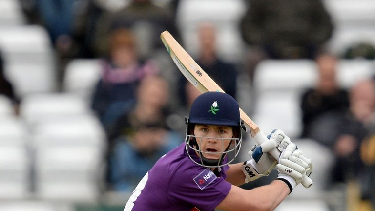 Alex Lees of Yorkshire Vikings during their Natwest T20 Blast against Derbyshire Falcons at Headingley
