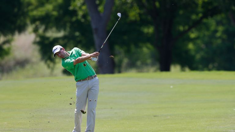 Brendon Todd plays a shot during the Final Round of the HP Byron Nelson Championship