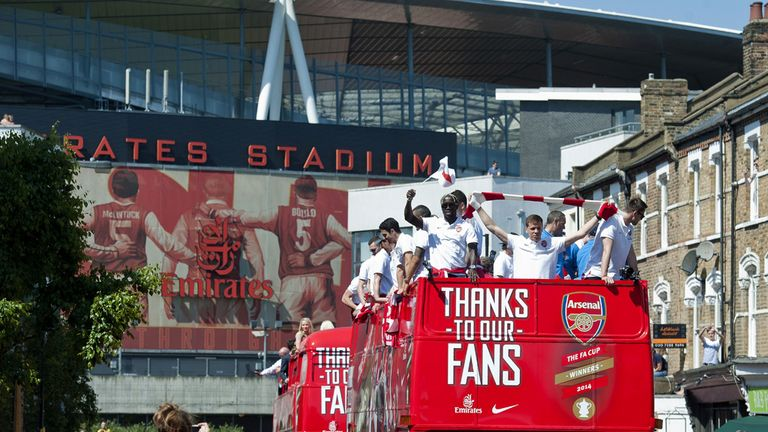 Arsenal paraded the FA Cup through London after their Wembley triumph