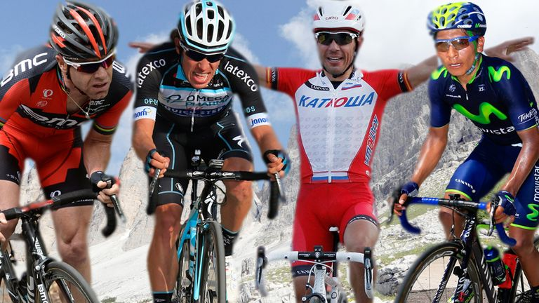 Cadel Evand, Rigoberto Uran, Joaquim Rodriguez and Nairo Quintana are among the Giro d'Italia favourites