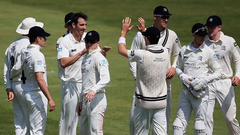 Toby Roland-Jones: Match figures of 12-105 for Middlesex seamer