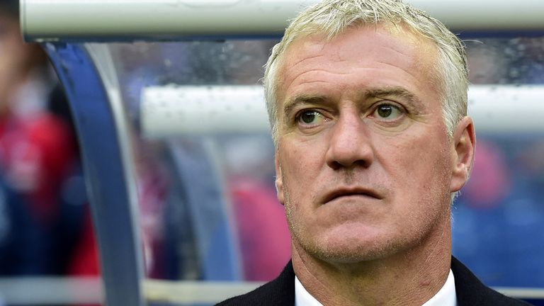 Didier Deschamps: France boss looks on during friendly against Norway
