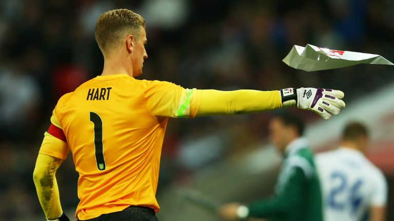Joe Hart: Has vowed to stay positive in Brazil