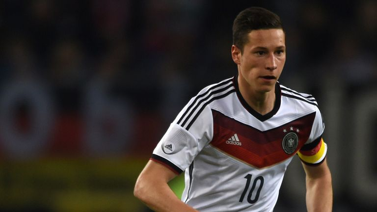 Germany midfielder Julian Draxler in action against Poland