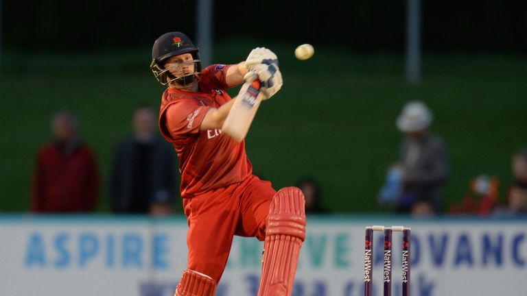 Karl Brown: His superb century was in vain as Lancashire were beaten by Yorkshire