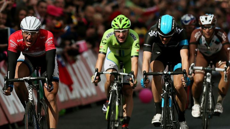 Marcel Kittel narrowly edged out Ben Swift in Dublin