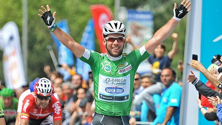 Mark Cavendish sprinted to his fourth win of the race