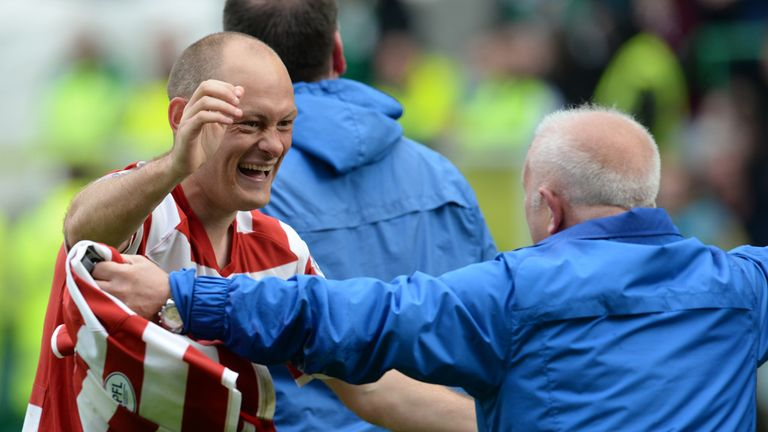 Alex Neil celebrates shoot-out success at Easter Road