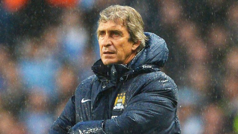 Pellegrini: looks set to win Premier League in his first season in charge