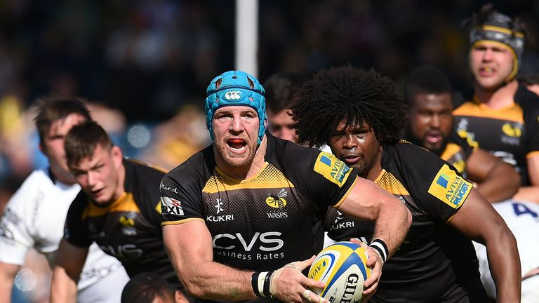 Wasps flanker James Haskell