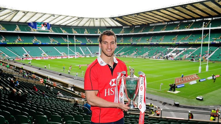 Wales and Lions captain Sam Warburton at Twickenham watching the Marriott Sevens