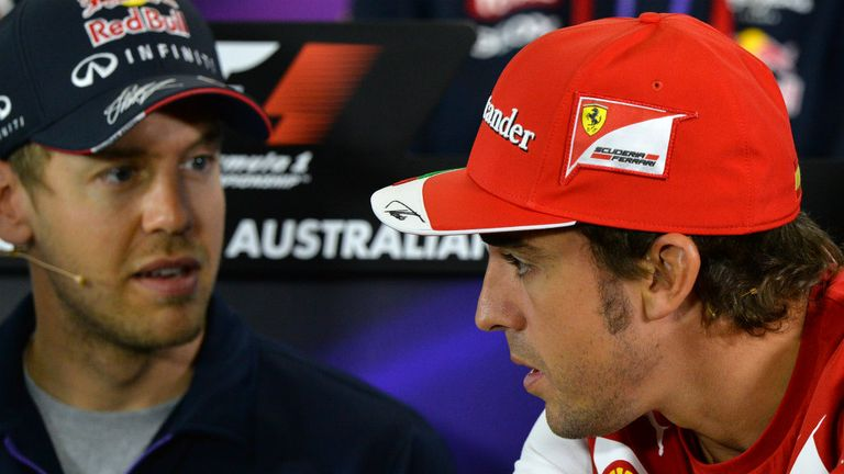 Vettel and Alonso: Last in the Thursday presser together in Australia