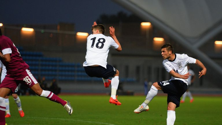 Jake Forster-Caskey: Strikes England U21s' second goal