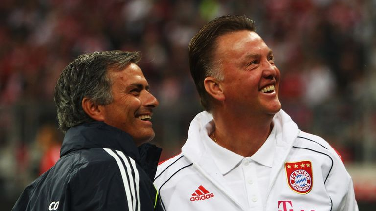 Jose Mourinho got the better of Van Gaal in the 2010 Champions League final between Inter and Bayern