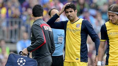 Diego Costa: Hamstring injury a concern for Atletico and Spain striker