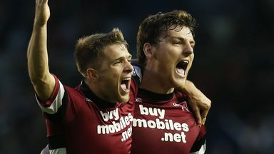 Chris Martin (right): Netted twice for Derby