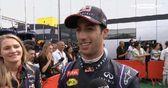 Ricciardo claims first podium