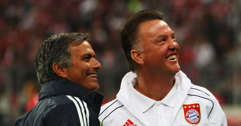 Jose Mourinho (l) and Louis van Gaal (r): Who has mastered the market?