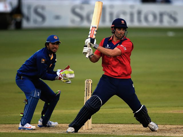Alastair Cook hits out in his innings of 71 for Essex