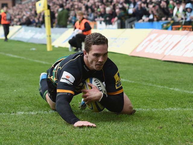George North goes over for a Northampton try