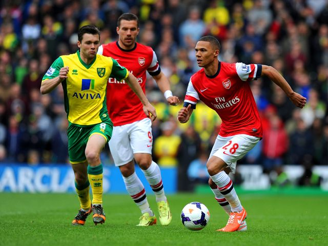 Kieran Gibbs in action for Arsenal
