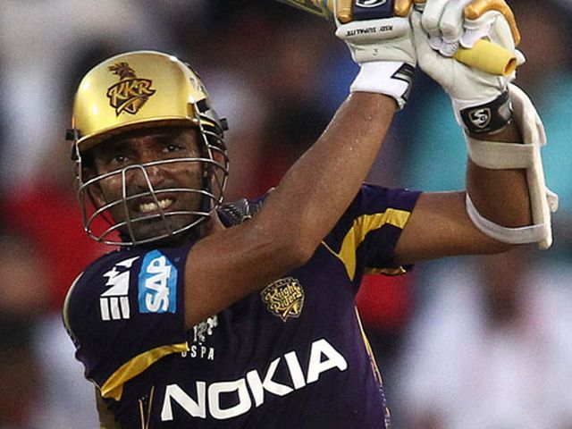 Robin Uthappa: Knight Riders opener hit his fourth half-century of the IPL season