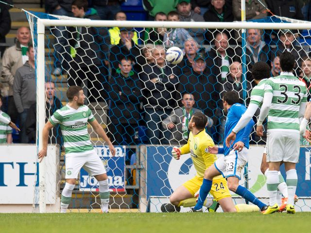St Johnstone's Tim Clancy scores the opening goal