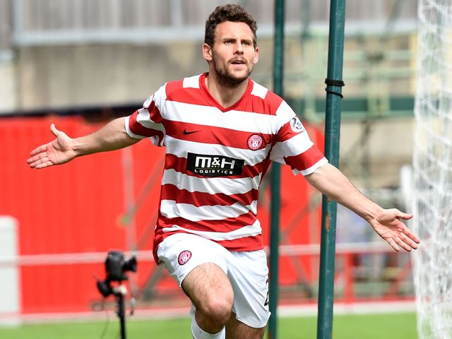 Hamilton's Anthony Andreu celebrates after giving his side an early lead