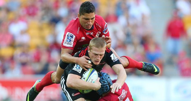 Johnny McNicholl: Scored two of the Crusaders' six tries