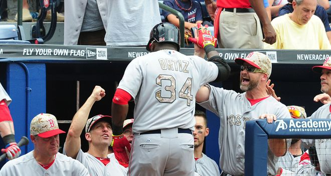 David Ortiz helped the Red Sox see off the Braves on Monday