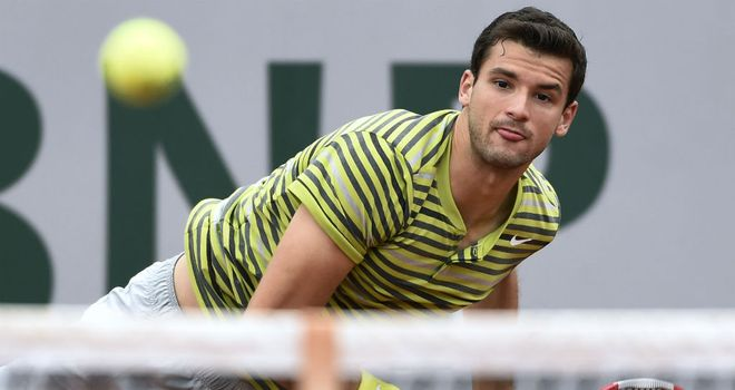 Grigor Dimitrov: Knocked out of the first round by Croatia's Ivo Karlovic