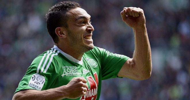 Mevlut Erding: On target for Saint-Etienne against Montpellier