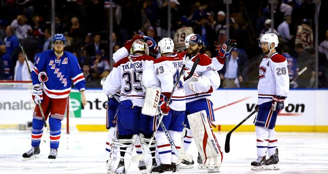 Alex Galchenyuk is mobbed after scoring the winner