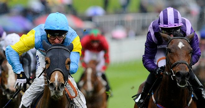 Anipa (left) in winning action at Chester