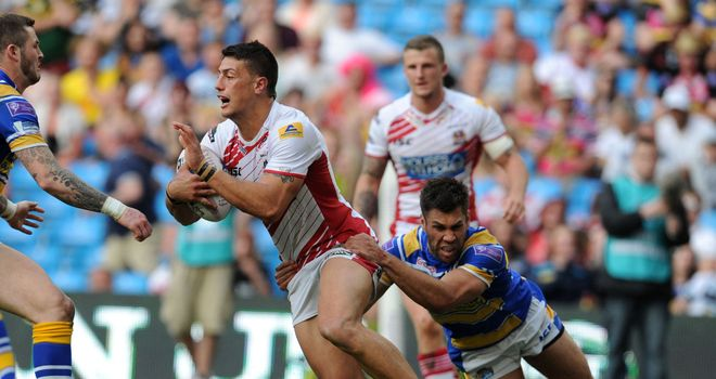 Anthony Gelling: Scored the opening try for Wigan at the Etihad Stadium
