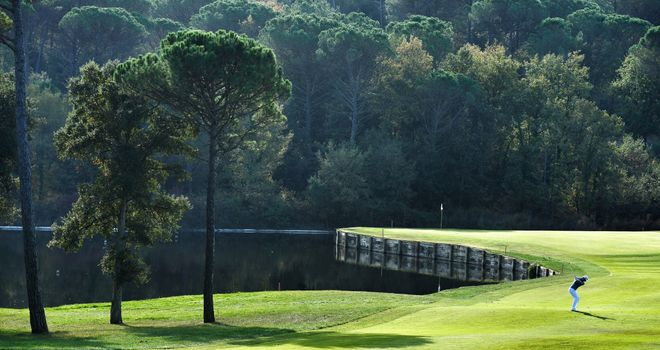 Water is in play at several holes on PGA Catalunya