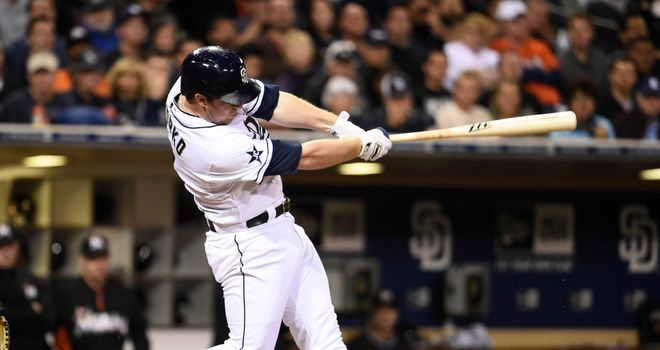 Jedd Gyorko: Hit a grand slam and another homer during the San Diego Padres' win